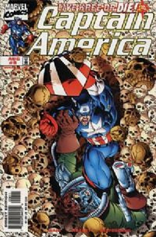 Cover of Captain America (Vol 3) #8. One of 250,000 Vintage American Comics on sale from Krypton!