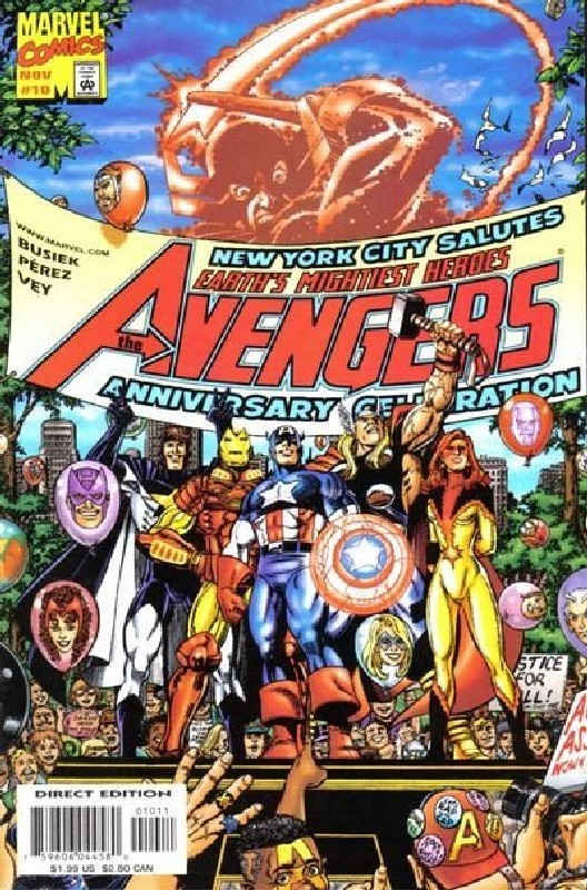 Cover of Avengers (Vol 3) #10. One of 250,000 Vintage American Comics on sale from Krypton!