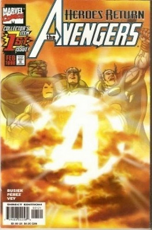 Cover of Avengers (Vol 3) #1. One of 250,000 Vintage American Comics on sale from Krypton!