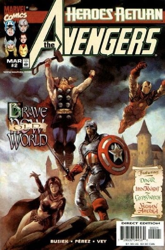 Cover of Avengers (Vol 3) #2. One of 250,000 Vintage American Comics on sale from Krypton!
