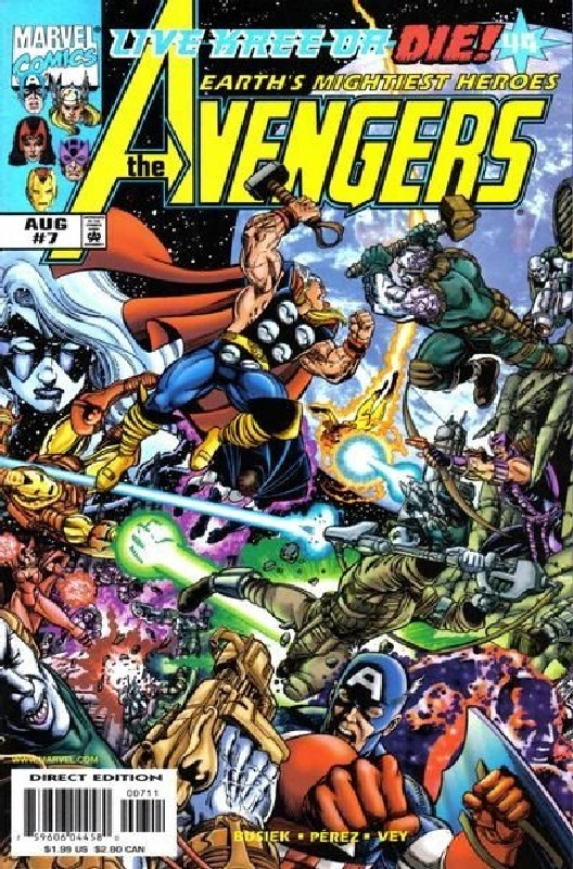 Cover of Avengers (Vol 3) #7. One of 250,000 Vintage American Comics on sale from Krypton!