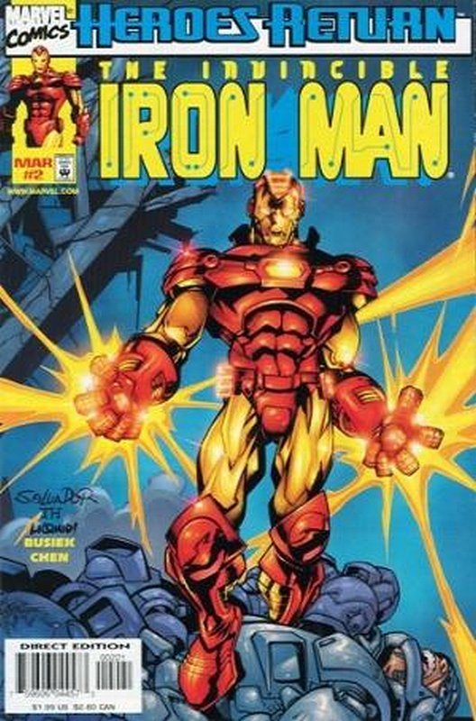 Cover of Iron Man (Vol 3) #2. One of 250,000 Vintage American Comics on sale from Krypton!