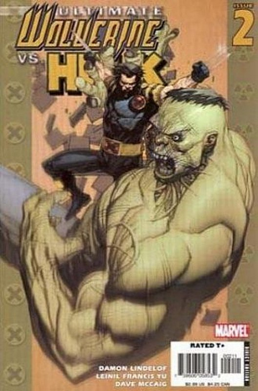 Cover of Ultimate Wolverine vs Hulk (2005 Ltd) #2. One of 250,000 Vintage American Comics on sale from Krypton!