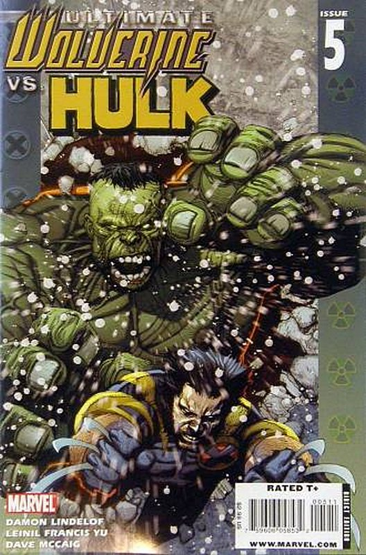 Cover of Ultimate Wolverine vs Hulk (2005 Ltd) #5. One of 250,000 Vintage American Comics on sale from Krypton!