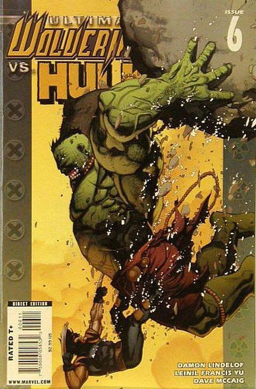 Cover of Ultimate Wolverine vs Hulk (2005 Ltd) #6. One of 250,000 Vintage American Comics on sale from Krypton!