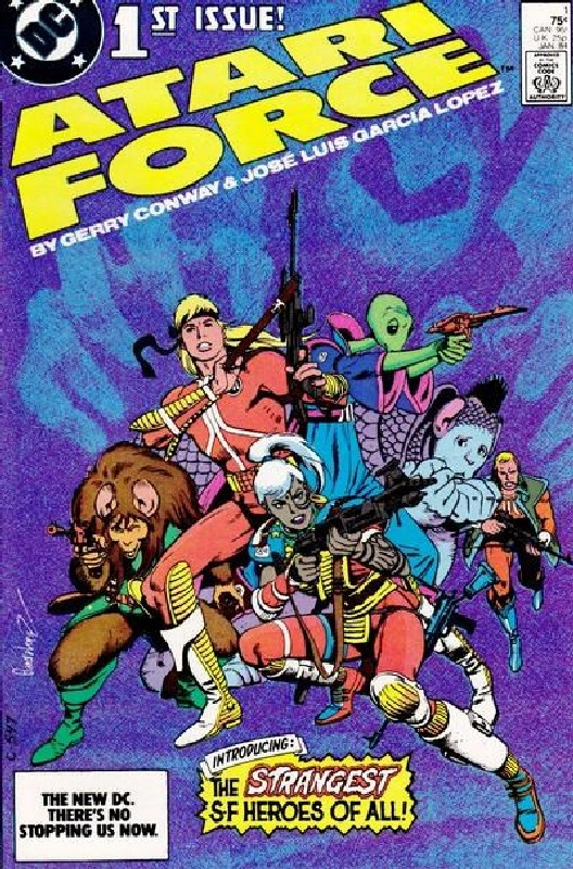 Cover of Atari Force (Vol 1) #1. One of 250,000 Vintage American Comics on sale from Krypton!