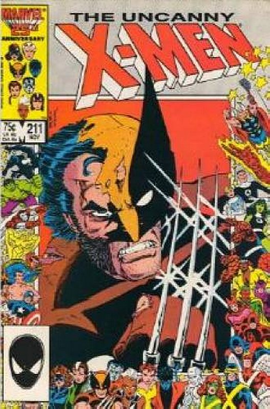Cover of Uncanny X-Men (Vol 1) #211. One of 250,000 Vintage American Comics on sale from Krypton!