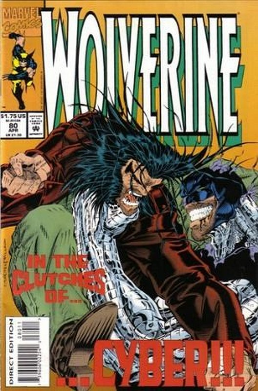 Cover of Wolverine (Vol 1) #80. One of 250,000 Vintage American Comics on sale from Krypton!