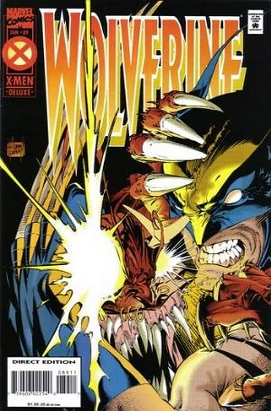 Cover of Wolverine (Vol 1) #89. One of 250,000 Vintage American Comics on sale from Krypton!
