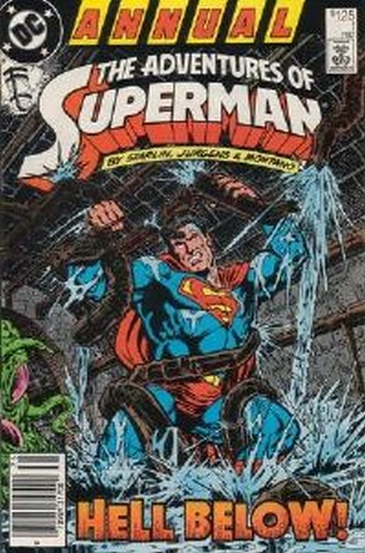 Cover of Adventures of Superman Annual #1. One of 250,000 Vintage American Comics on sale from Krypton!