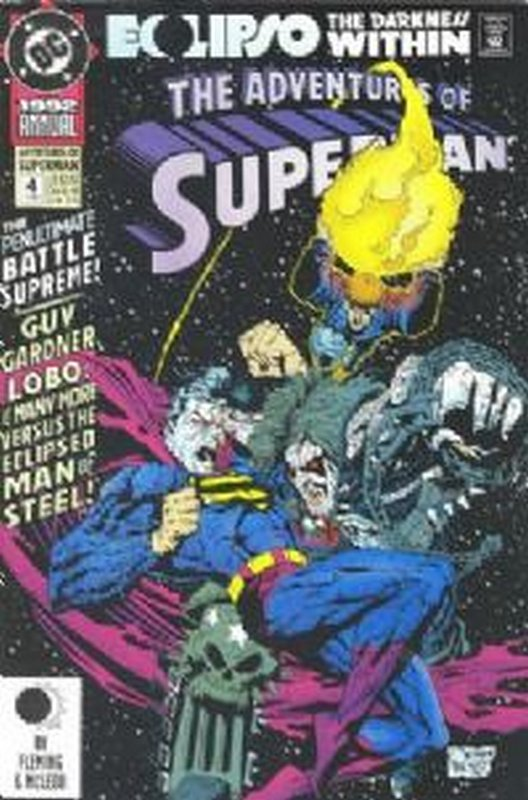 Cover of Adventures of Superman Annual #4. One of 250,000 Vintage American Comics on sale from Krypton!