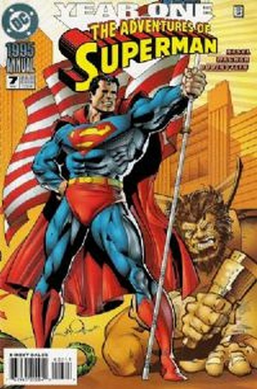 Cover of Adventures of Superman Annual #7. One of 250,000 Vintage American Comics on sale from Krypton!