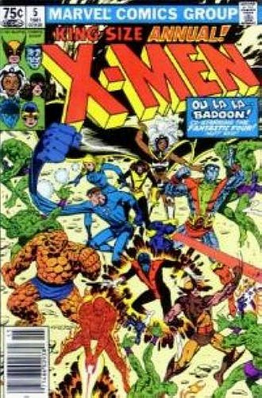 Cover of Uncanny X-Men Annual (Vol 1) #5. One of 250,000 Vintage American Comics on sale from Krypton!