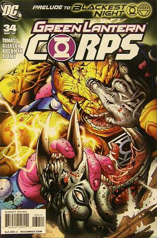 Cover of Green Lantern Corps (Vol 1) #34. One of 250,000 Vintage American Comics on sale from Krypton!