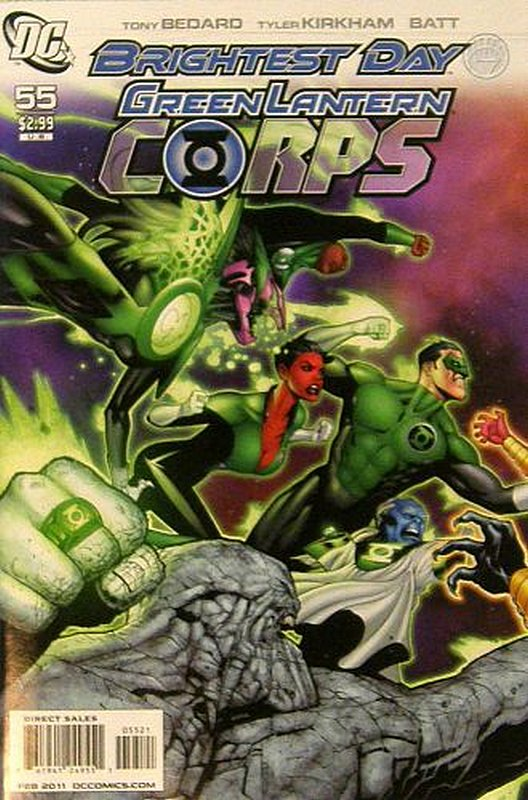 Cover of Green Lantern Corps (Vol 1) #55. One of 250,000 Vintage American Comics on sale from Krypton!