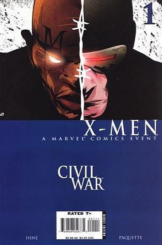 Cover of Civil War: X-Men (2006 Ltd) #1. One of 250,000 Vintage American Comics on sale from Krypton!