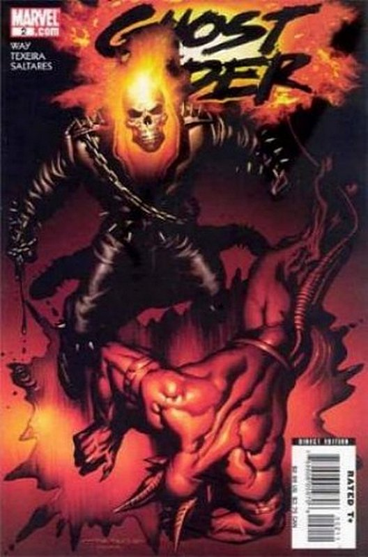 Cover of Ghost Rider (Vol 3) #2. One of 250,000 Vintage American Comics on sale from Krypton!