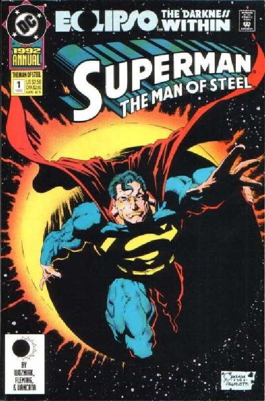 Cover of Superman: Man of Steel Annual #1. One of 250,000 Vintage American Comics on sale from Krypton!
