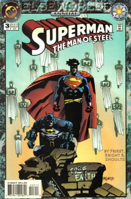 Cover of Superman: Man of Steel Annual #3. One of 250,000 Vintage American Comics on sale from Krypton!