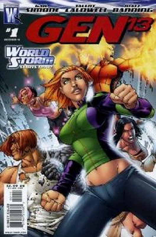 Cover of Gen 13 (Vol 4) #1. One of 250,000 Vintage American Comics on sale from Krypton!