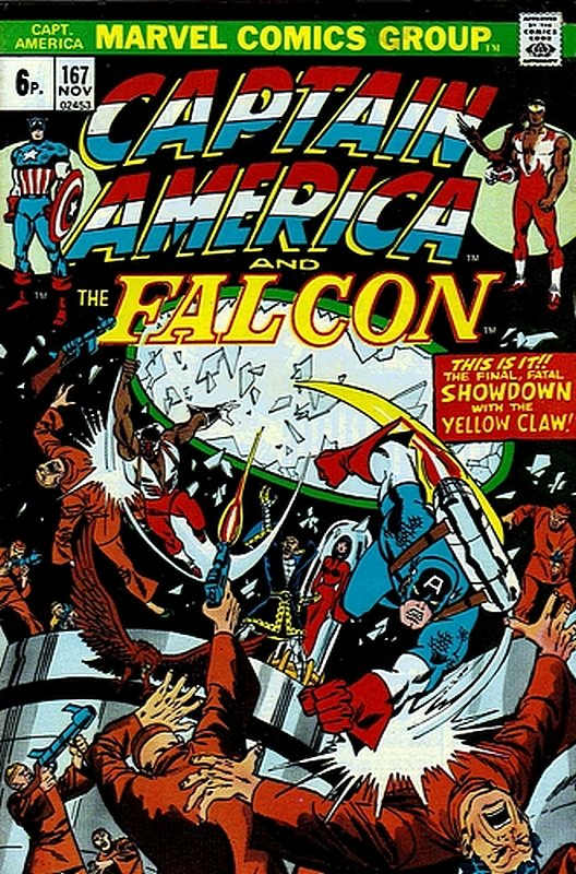 Cover of Captain America (Vol 1) #167. One of 250,000 Vintage American Comics on sale from Krypton!