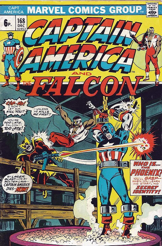 Cover of Captain America (Vol 1) #168. One of 250,000 Vintage American Comics on sale from Krypton!