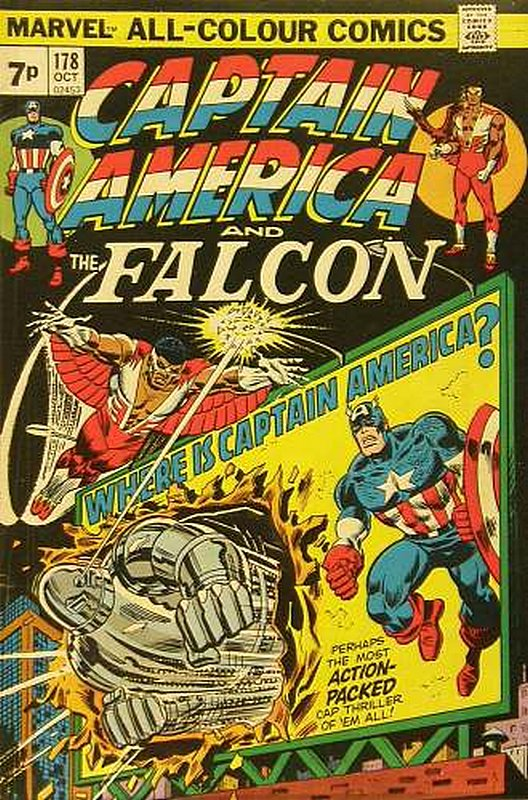 Cover of Captain America (Vol 1) #178. One of 250,000 Vintage American Comics on sale from Krypton!