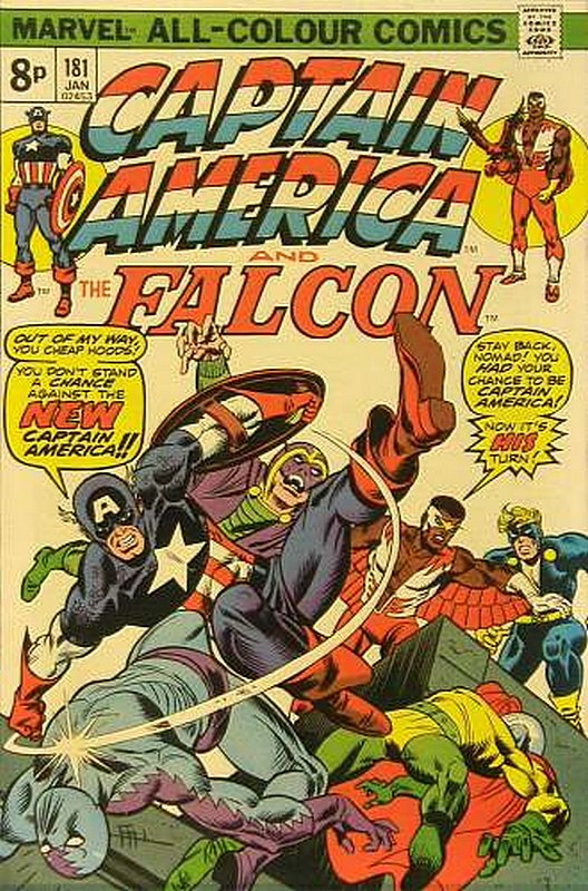 Cover of Captain America (Vol 1) #181. One of 250,000 Vintage American Comics on sale from Krypton!