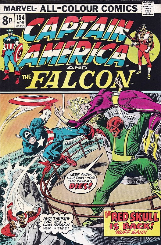 Cover of Captain America (Vol 1) #184. One of 250,000 Vintage American Comics on sale from Krypton!