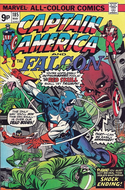 Cover of Captain America (Vol 1) #185. One of 250,000 Vintage American Comics on sale from Krypton!