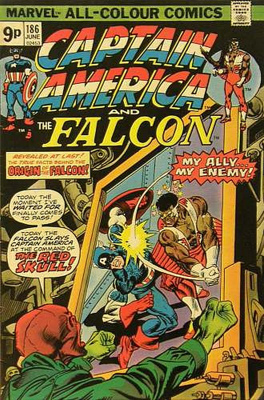 Cover of Captain America (Vol 1) #186. One of 250,000 Vintage American Comics on sale from Krypton!