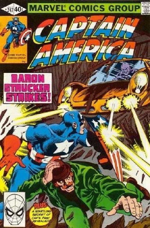 Cover of Captain America (Vol 1) #247. One of 250,000 Vintage American Comics on sale from Krypton!