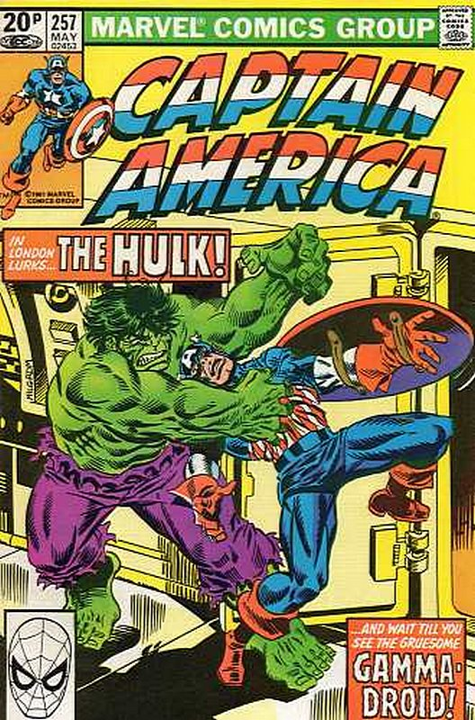 Cover of Captain America (Vol 1) #257. One of 250,000 Vintage American Comics on sale from Krypton!