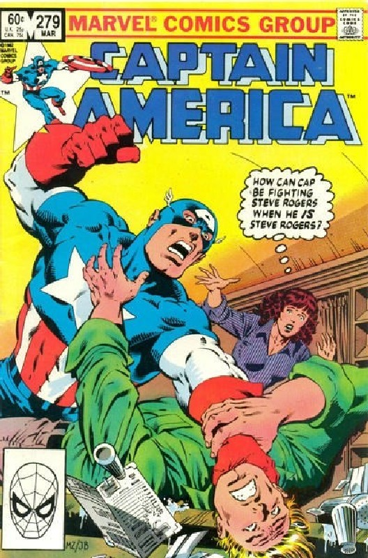 Cover of Captain America (Vol 1) #279. One of 250,000 Vintage American Comics on sale from Krypton!