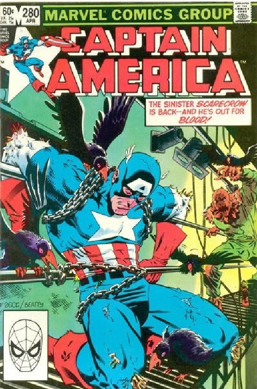 Cover of Captain America (Vol 1) #280. One of 250,000 Vintage American Comics on sale from Krypton!