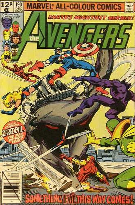 Cover of Avengers (Vol 1) #190. One of 250,000 Vintage American Comics on sale from Krypton!