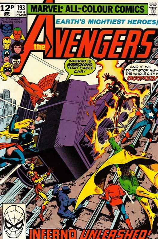 Cover of Avengers (Vol 1) #193. One of 250,000 Vintage American Comics on sale from Krypton!