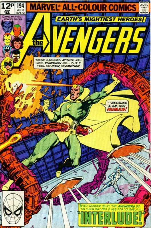 Cover of Avengers (Vol 1) #194. One of 250,000 Vintage American Comics on sale from Krypton!