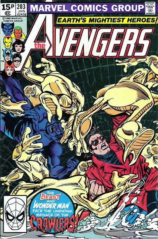 Cover of Avengers (Vol 1) #203. One of 250,000 Vintage American Comics on sale from Krypton!