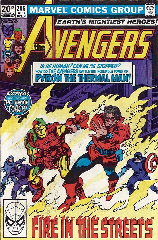 Cover of Avengers (Vol 1) #206. One of 250,000 Vintage American Comics on sale from Krypton!