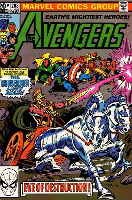 Cover of Avengers (Vol 1) #208. One of 250,000 Vintage American Comics on sale from Krypton!