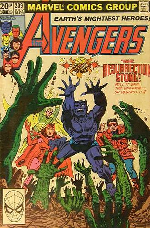 Cover of Avengers (Vol 1) #209. One of 250,000 Vintage American Comics on sale from Krypton!