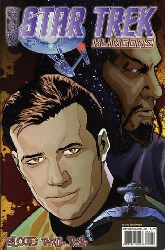 Cover of Star Trek: Klingons - Blood Will Tell (2007 Ltd) #1. One of 250,000 Vintage American Comics on sale from Krypton!