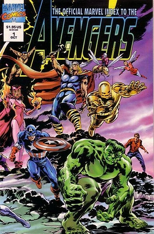 Cover of Avengers: Official Marvel Index (Vol 2) #1. One of 250,000 Vintage American Comics on sale from Krypton!