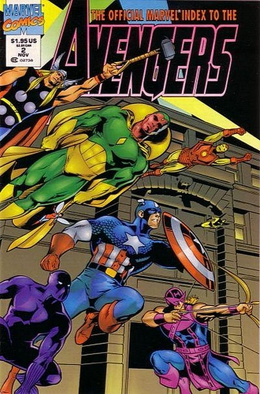 Cover of Avengers: Official Marvel Index (Vol 2) #2. One of 250,000 Vintage American Comics on sale from Krypton!