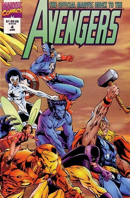 Cover of Avengers: Official Marvel Index (Vol 2) #4. One of 250,000 Vintage American Comics on sale from Krypton!