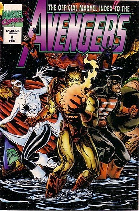 Cover of Avengers: Official Marvel Index (Vol 2) #5. One of 250,000 Vintage American Comics on sale from Krypton!