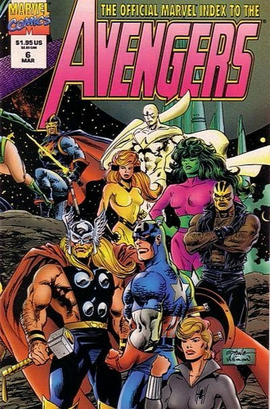 Cover of Avengers: Official Marvel Index (Vol 2) #6. One of 250,000 Vintage American Comics on sale from Krypton!