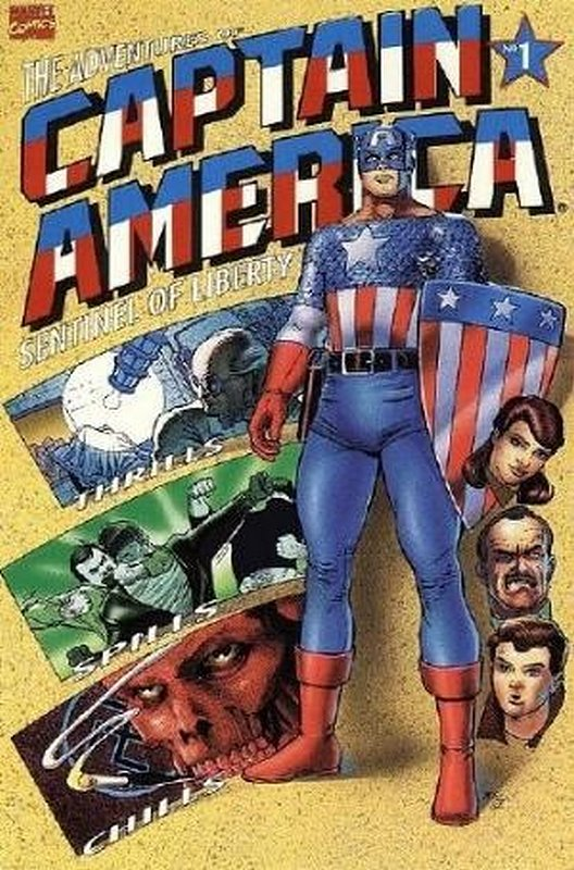 Cover of Adventures of Captain America (1991 Ltd) #1. One of 250,000 Vintage American Comics on sale from Krypton!