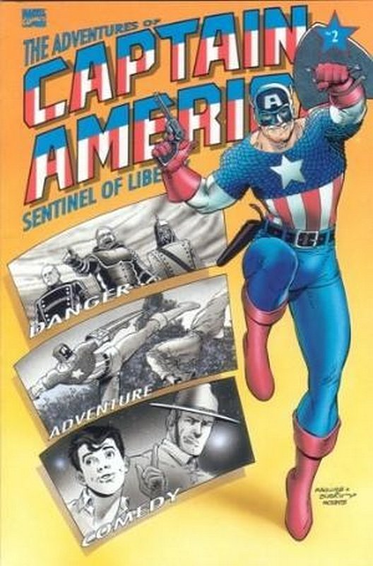 Cover of Adventures of Captain America (1991 Ltd) #2. One of 250,000 Vintage American Comics on sale from Krypton!